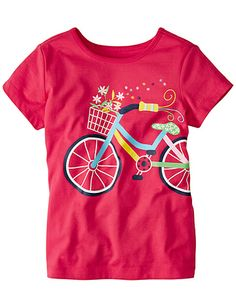Pink Flower - Art Tees from Hanna Andersson Andersson Girls Tees, Shirts For Girls, Toddler Girl Outfits, Boy Outfits, Baby Girl Fashion, Kids Fashion, Fabric Paint Designs, T Shirt Painting, Girl Trends