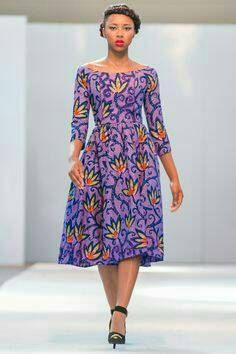 Col large africaine Midi impression Dress Robe par Zizibespoke