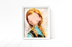 Frozen - Anna Portrait - Wall Art, Printable Poster - 8 x 10 - DIGITAL DOWNLOAD - #BCG-1519 by BlankCanvasGallery on Etsy