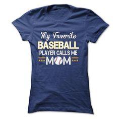 My favorite BASEBALL player calls me mom #comfy sweatshirt #sweatshirt street. BUY TODAY AND SAVE   => https://www.sunfrog.com/Sports/My-favorite-BASEBALL-player-calls-me-mom-18000773-Ladies.html?id=60505