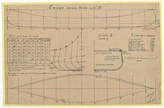 PLAN DE COQUE - CANOE CANADIEN ENTOILE (1940)