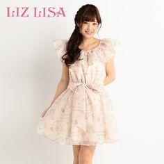 A字裙lizlisa2016夏季新款芭蕾舞女印花6011显瘦甜美荷叶边连衣裙-tmall.com天猫