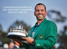 Congratulations to Sergio Garcia on capturing his first major championship at the 2017 Masters Tournament! Garcia earned the green jacket after defeating Justin Rose in a sudden death playoff. #TheMasters #Golf