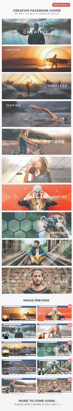 Creative Facebook Timeline Cover #creative #creative facebook banner #custom • Available here → http://graphicriver.net/item/creative-facebook-timeline-cover/13556979?s_rank=874&ref=pxcr Mais