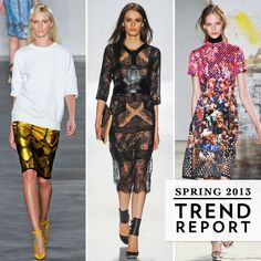 Check out the coming trends straight from New York Fashion Week's Spring 2013 Runway Shows