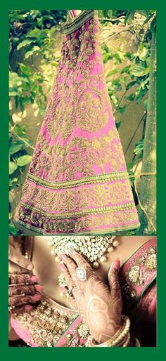 Gorgeous Indian Wedding Bride, Desi Wedding, Indian Wedding Outfits, Indian Outfits, Indian Weddings, Indian Colours, Indian Bridal Fashion, Indian Patterns, Pretty Designs