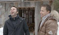 Louis-José Houde et Stéphane Rousseau Stephane Rousseau, Canoe, Canada Goose Jackets, Photos, Winter Jackets, Smile, Dating, Men, Humor