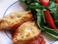 Pumpkin Ricotta Stuffed Shells.  Had These Today And They Were Delicious!