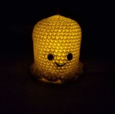 This cute-not-creepy upcycled Halloween craft is quick, easy, and cheap! Free crochet pattern, non-crochet, and kid friendly instructions are also included! Halloween Ghosts, Halloween Crafts, Halloween Decorations, Crochet Toys, Free Crochet, Knit Crochet, Crotchet, Holiday Crochet, Halloween Crochet