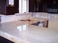 DIY Concrete Kitchen Countertops | DIY kitchen remodel on a budget - Kitchen Designs - Decorating Ideas ...