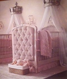 Restoration Hardware | charming baby girl's room.