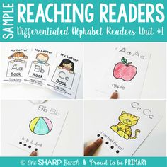 FREE Reaching Readers Alphabet Readers SAMPLE:This a FREE 21 page sample of the alphabet readers included in Reaching Readers Unit 1 Differentiated Alphabet Readers for guided reading small group instruction. You will receive the letter A alphabet reader from each 3 levels of differentiated alphabet readers to print and try out in your classroom.