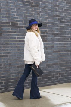 fur-and-flares-with-clare-v-clutch-and-hat.jpg 1,200×1,807 pixels
