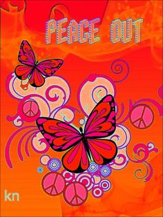 """Peace Out!"" __[Peace sign Art by KN] #HippieStuff #cRed #butterfly"