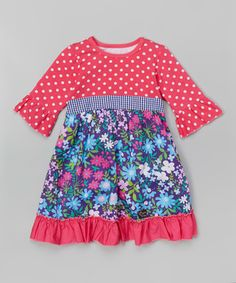 This Hot Pink & Daisy Floral Dress - Infant, Toddler & Girls is perfect! #zulilyfinds