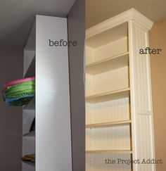 built ins from stand alone book cases