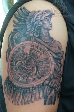 warrior biceps tattoo for men