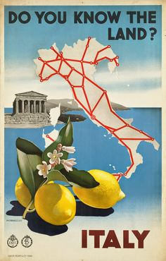 ART & ARTISTS: Vintage Travel Posters - part 7 (Italy poster by Michahelles)