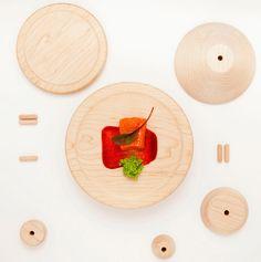Oboom, Stackable Modular Serving Plate