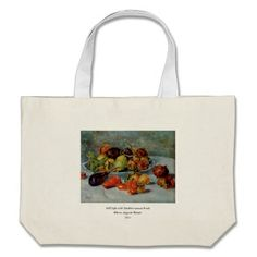 Renoirs Still Life with Mediterranean Fruit, 1911 Tote Bags Large Canvas Tote Bags, Reusable Tote Bags, Fruit, Life, Vintage