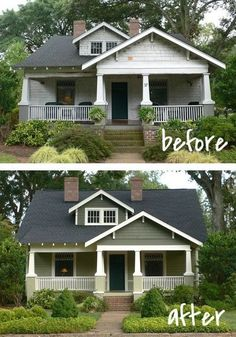 Never underestimate the power of good curb appeal! It's amazing what a coat of paint can do.
