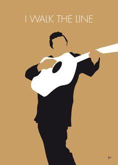No010 MY Johnny Cash Minimal Music poster Art Print