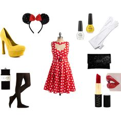 Minnie Mouse Costume, created by keepingitlovely on Polyvore I think this is going to be my Halloween costume this year!