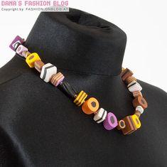 Schmuck basteln fimo  Kette+KORU+Regenbogen+Spirale+Fimo+Schmuck+bunt+von+aroha+-+jewels ...