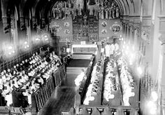 A photograph capturing the end of a Dominican Rite Mass at the Dominican House of Studies in 1917.
