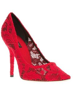 Dolce & Gabbana floral embroidered pump