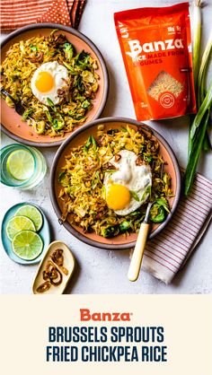 Save Print Brussels Sprouts Fried Chickpea Rice Watch out! This fried Banza chickpea rice dish is seriously addictive. Rice Bowls, Rice Dishes, Brunch Recipes, Wine Recipes, Easy Rice Recipes, Grain Bowl, Macaroni Cheese, Meal Prep For The Week, Cooking Light