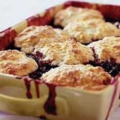 Blueberry Cobbler  This is AWESOME! The topping is the best