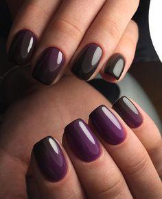 Great Nails, Fabulous Nails, Gorgeous Nails, Glitter Nail Polish, Gel Nail Art, Acrylic Nails, Nail Nail, Mauve Nails, Purple Nails