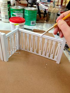 Staircase from popsicle sticks