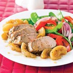 Filet de porc caramélisé aux pommes Filets, Poultry, Pork, Meat, Chicken, Kitchen, Recipes, Ribs, Pig Kitchen