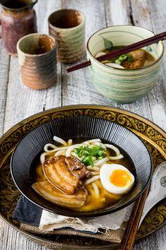 Stewed pork belly with udon   Ichigo Shortcake