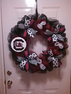 South Carolina Gamecock Wreath by craftsociety on Etsy, $50.00