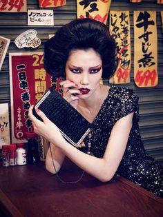 パーティなどで参考にしたい!ファッションモデルTAOの歌舞伎メイクがかっこいい♡歌舞伎メイクの参考に☆