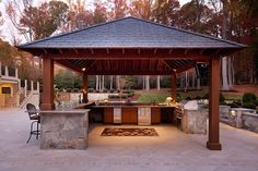 We constructed this outdoor kitchen in Great Falls, VA as part of a large landscaping project