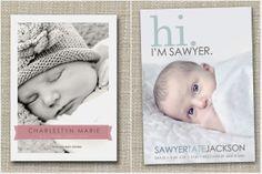 Inspiration fürs Baby: Die Geburtsanzeige.