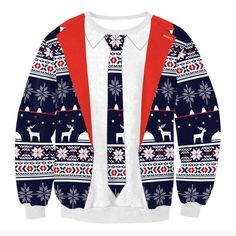 7c33d82aeec 2017 New Women Autumn Winter XMAS Clothes Women Christmas Xmas Jumper Top  Harajuku Snowflake Printed Sweatshirts Outfit