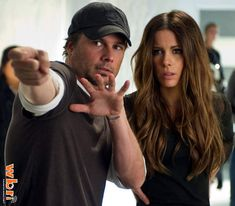 Kate Beckinsale and Len Wiseman in TOTAL RECALL (2012)