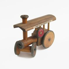Vintage Folk Art Wooden Traction Engine by EnglishCountryHome