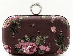 Elegant Canva Clutch With Diamond Clutches - $34.95  www.teelieturner.com #clutch
