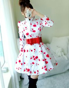 Fantastic Cotton Multi-color Sweety Style High Neck Three Quarter Jackets & Coats