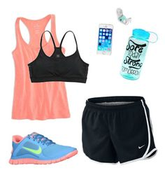 Run Day by tfrost on Polyvore featuring American Eagle Outfitters, Aerie and NIKE