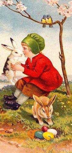 """A """"Happy Easter"""" postcard."""