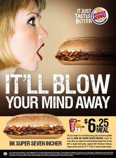 Une créa bien light pour le poids lourd Burger King