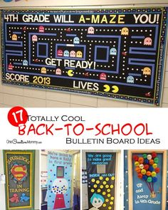 Wow the class with these cool back to school bulletin board ideas!