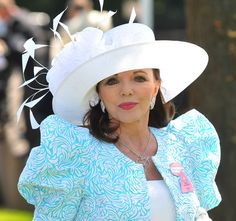 Joan Collins attends Royal Ascot Ladies Day on June 17, 2010 in Ascot, England.